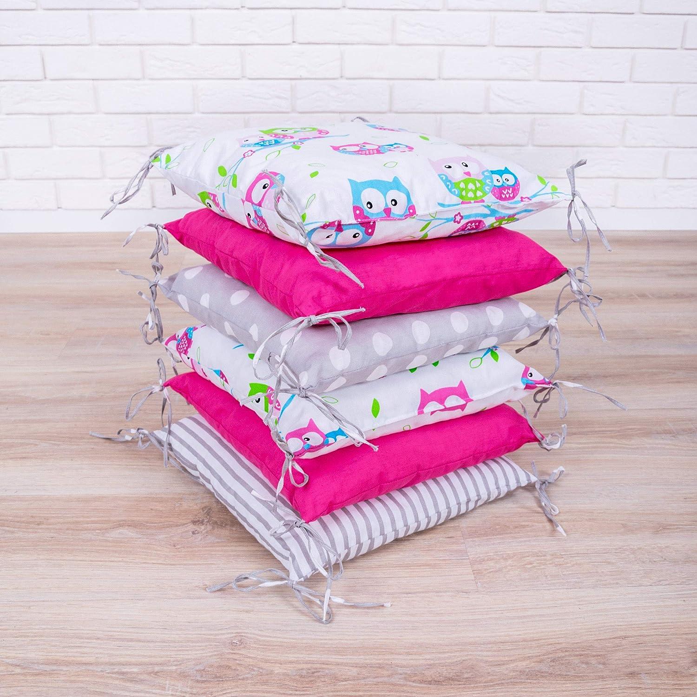 Amilian® Baby Nestchen Bettumrandung 210 cm Design8 Bettnestchen Kantenschutz Kopfschutz für Babybett Bettausstattung