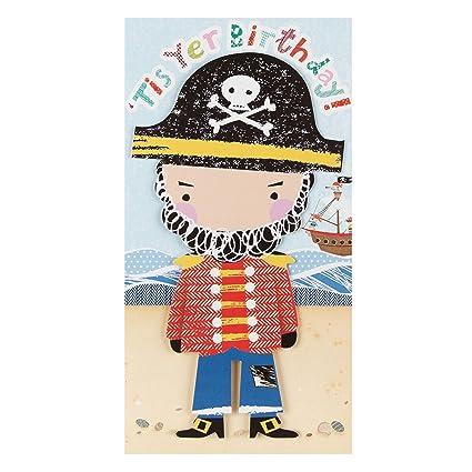 Hallmark Tarjeta mediana cumpleaños de pirata