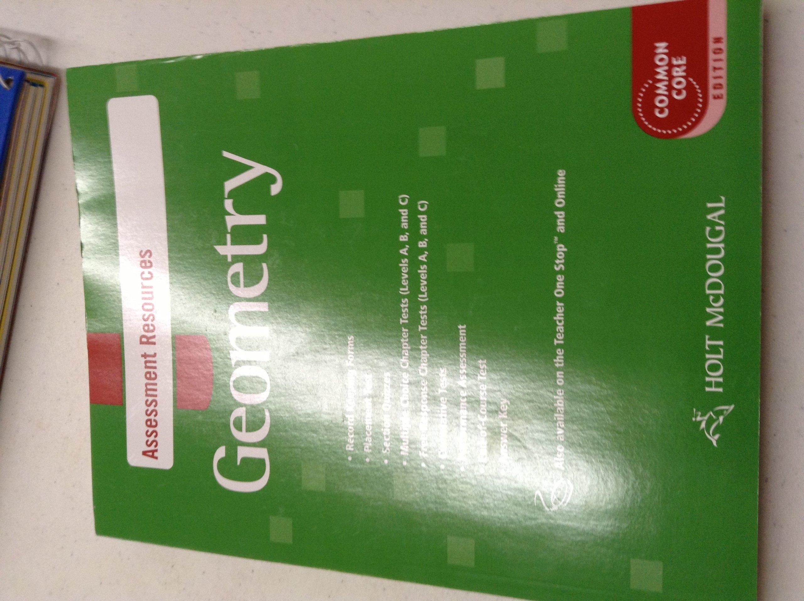 Bestseller: Holt Geometry Chapter Test Answer Key