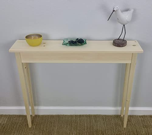 Wondrous 36 Unfinished Pine Narrow Tapered Leg Wall Foyer Sofa Console Hall Table Machost Co Dining Chair Design Ideas Machostcouk