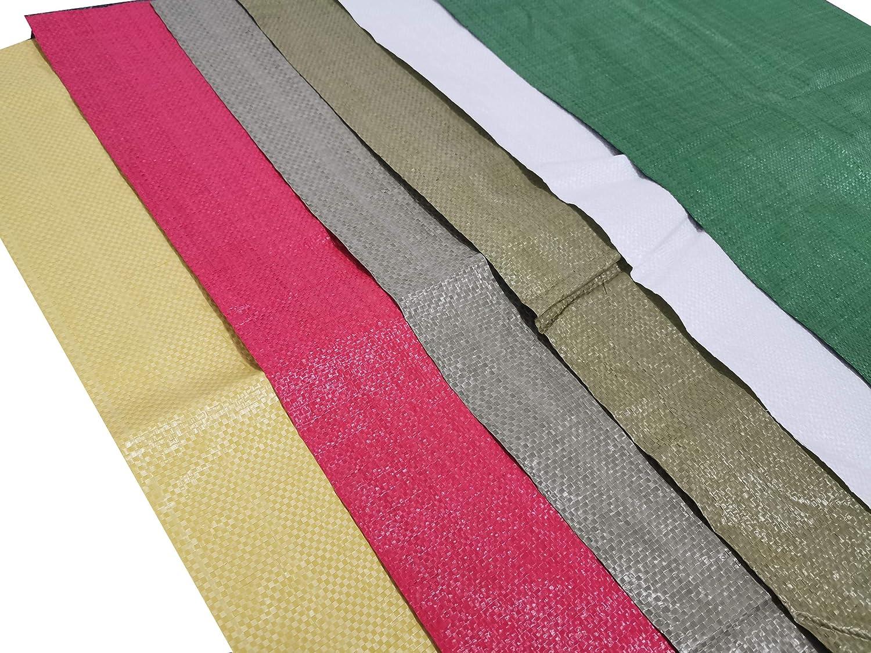 12Pack 6 Colors Barrier Sandbags NRTFE Sand Bag Empty 17 x 29,Woven Polypropylene Sandbags
