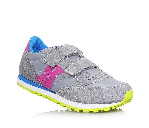 b6827c742acfc SAUCONY SC56453 JAZZ DBLE HL grigio rosa blu scarpe bambina girls strappo   Amazon.it  Scarpe e borse
