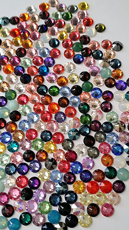 bab55f90e61cd9 Amazon.com  250 SWAROVSKI Rhinestones Crystal FlatBack MIX 5ss  Home ...