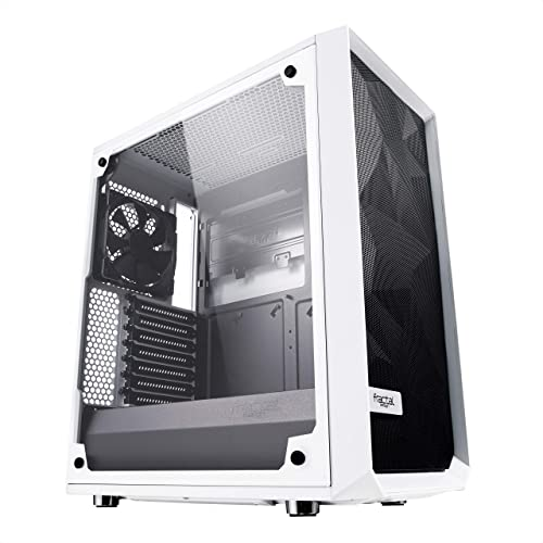 おしゃれなパソコンケース Fractal Design Meshify C White Tempered Glass