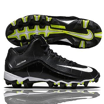 Nike Alpha Shark 3 4 de fútbol americano zapatos tacos de fútbol blanco y  negro 2ddddc4f40f