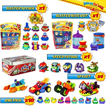 SuperThings Secret Spies Serie – Blíster 10 Pack y 16 Sets Sorpresa | Contiene Blister 10 Pack,