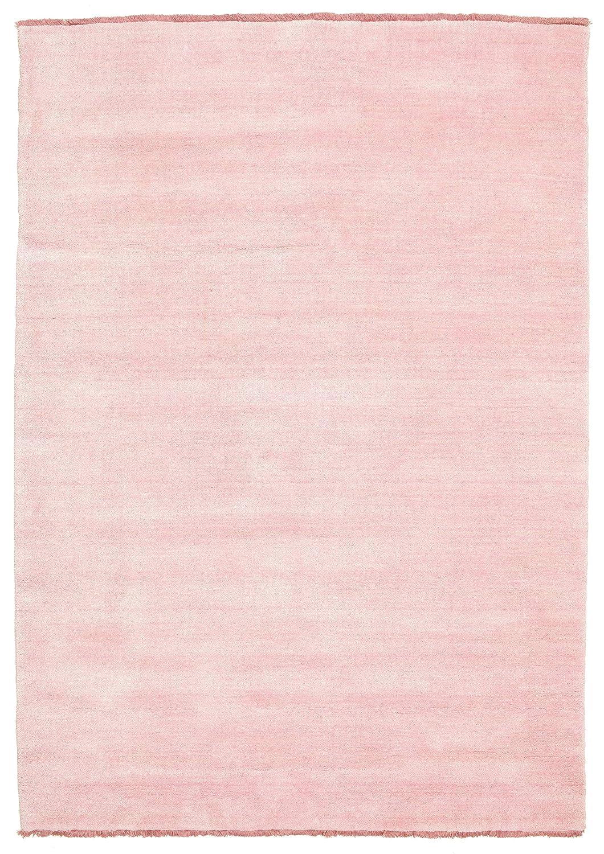 CarpetVista Handloom fringes - Rosa Teppich 140x200 Moderner Teppich