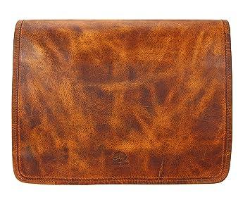 de2dc25c6896 Image Unavailable. Image not available for. Color  Rustic Town 15 inch  Vintage Crossbody Genuine Leather Laptop Messenger Bag