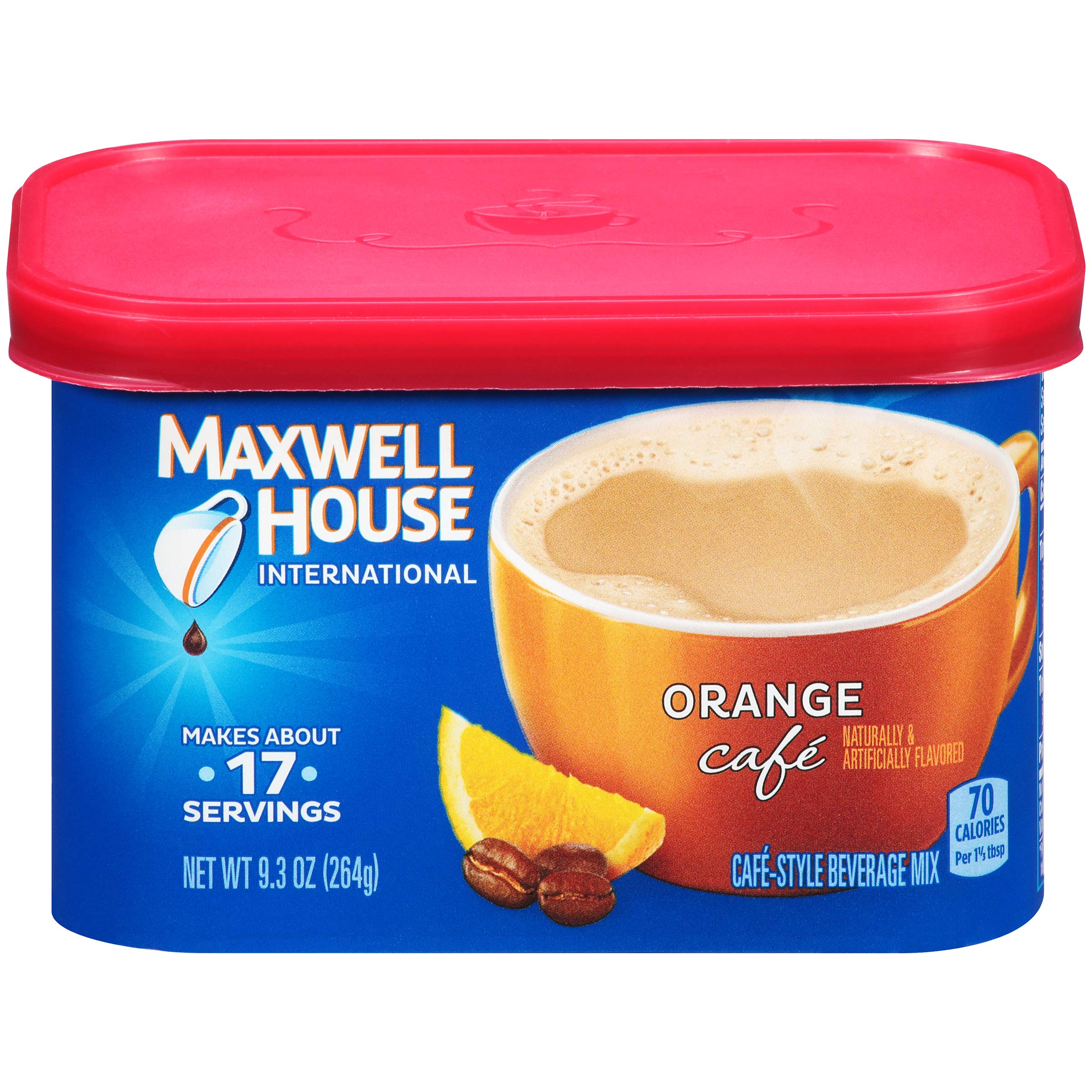 Maxwell House Orange Instant Coffee International Cafe (9.3oz Canisters, Pack of 4) by MAXWELL HOUSE
