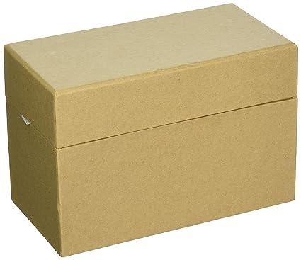 Amazon PaperMache Recipe Box400400X400400X4040 Decorative Cool Decorative Paper Mache Boxes
