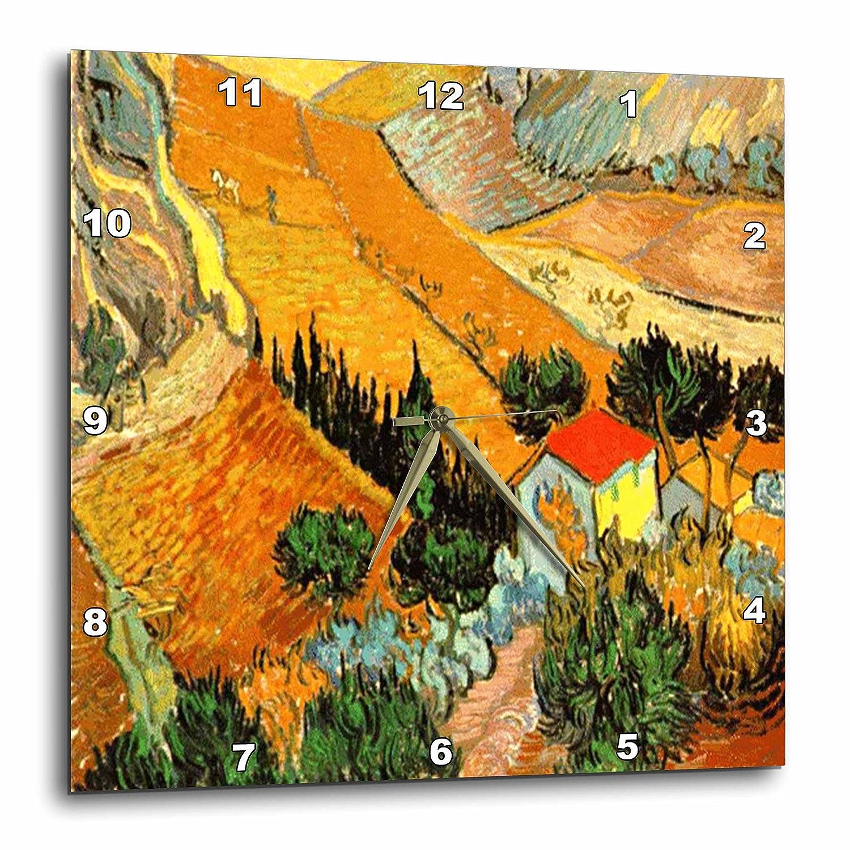 13 by 13-Inch 3dRose DPP/_48156/_2 Van Gogh Landscape-Wall Clock