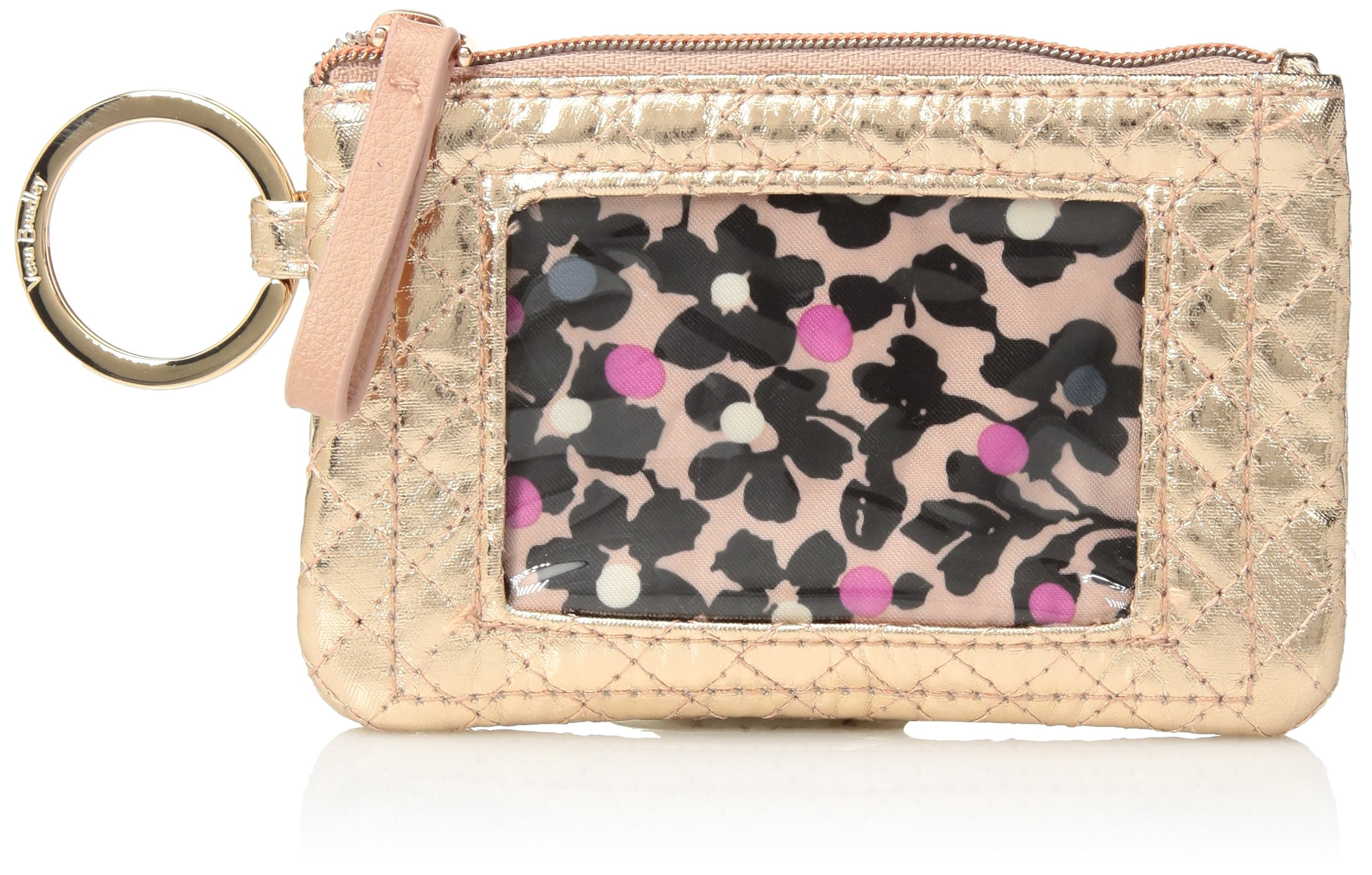 Vera Bradley Iconic Zip ID Case, Foiled Cotton, Rose Gold Shimmer by Vera Bradley (Image #1)