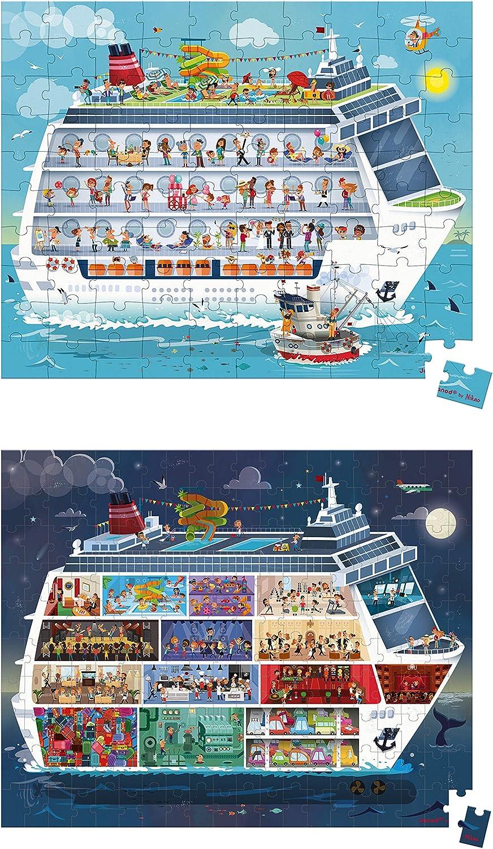 Janod Valisette 2 Puzzles Bateau De Croisiere 100 Et 200 Pcs J02726 Multicolore Amazon Fr Jeux Et Jouets