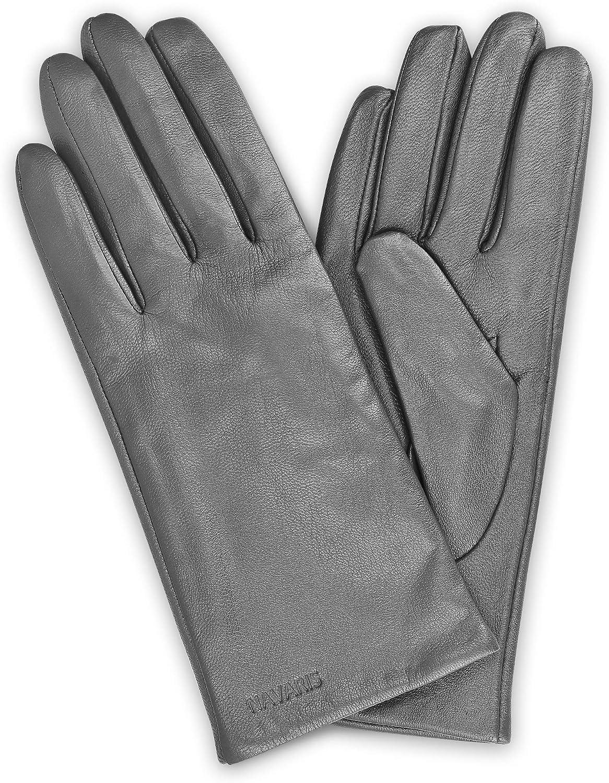 Navaris Touchscreen Nappa Lederhandschuhe f/ür Damen Leder Handschuhe aus Lammleder mit Kaschmir Mix Futter Damenhandschuhe mit Touch Funktion
