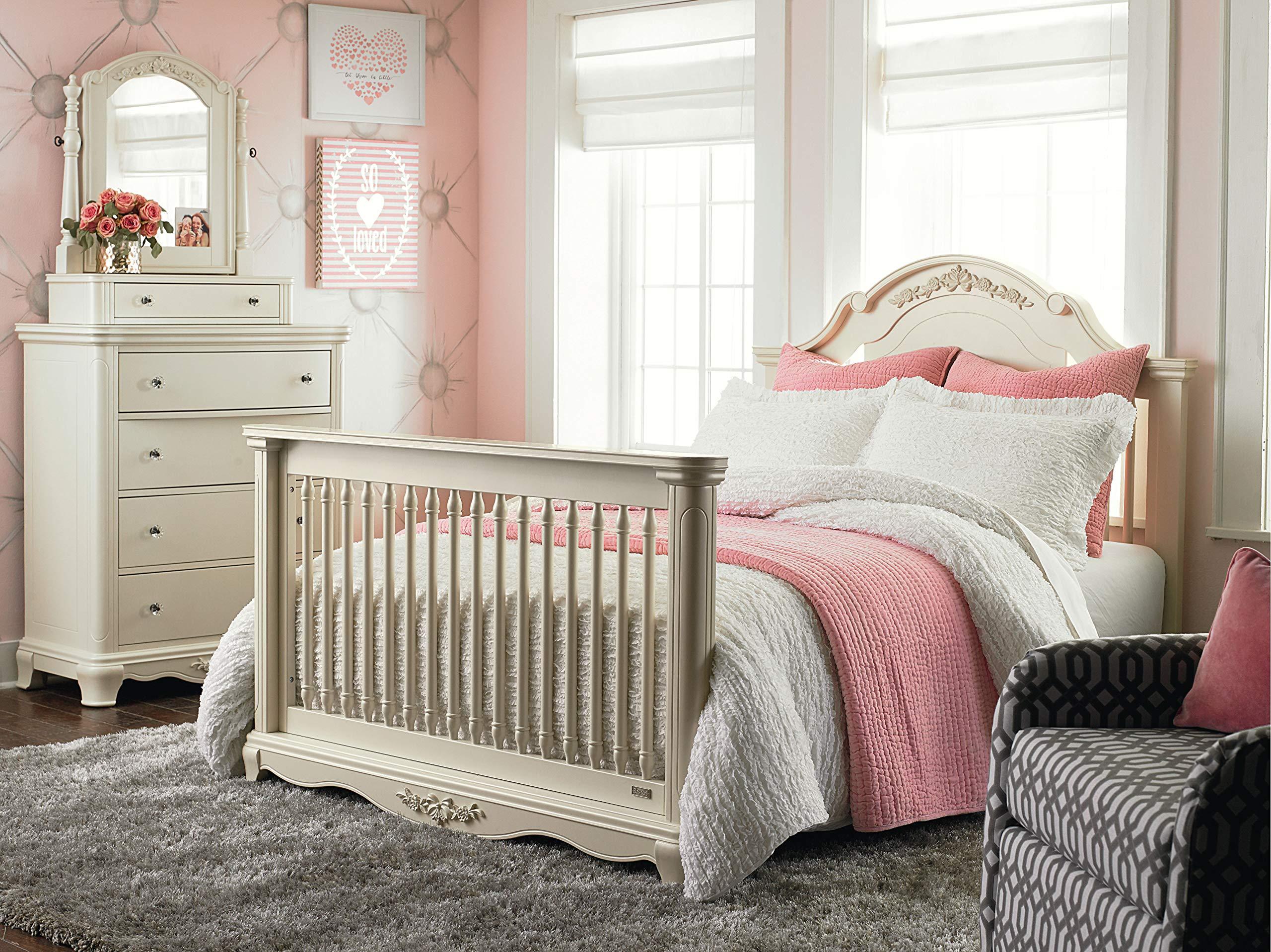 Bassett Baby & Kids Addison Full-Size Bed Rails, Pearl White