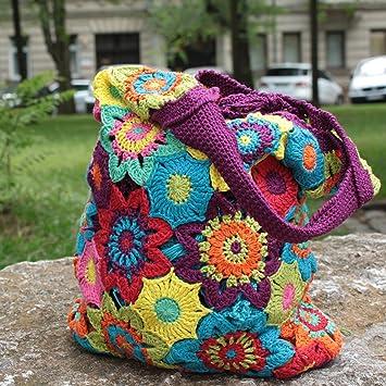 MyOma Häkelpackung/Strickpackung - Tasche mit Baumwolle und ...