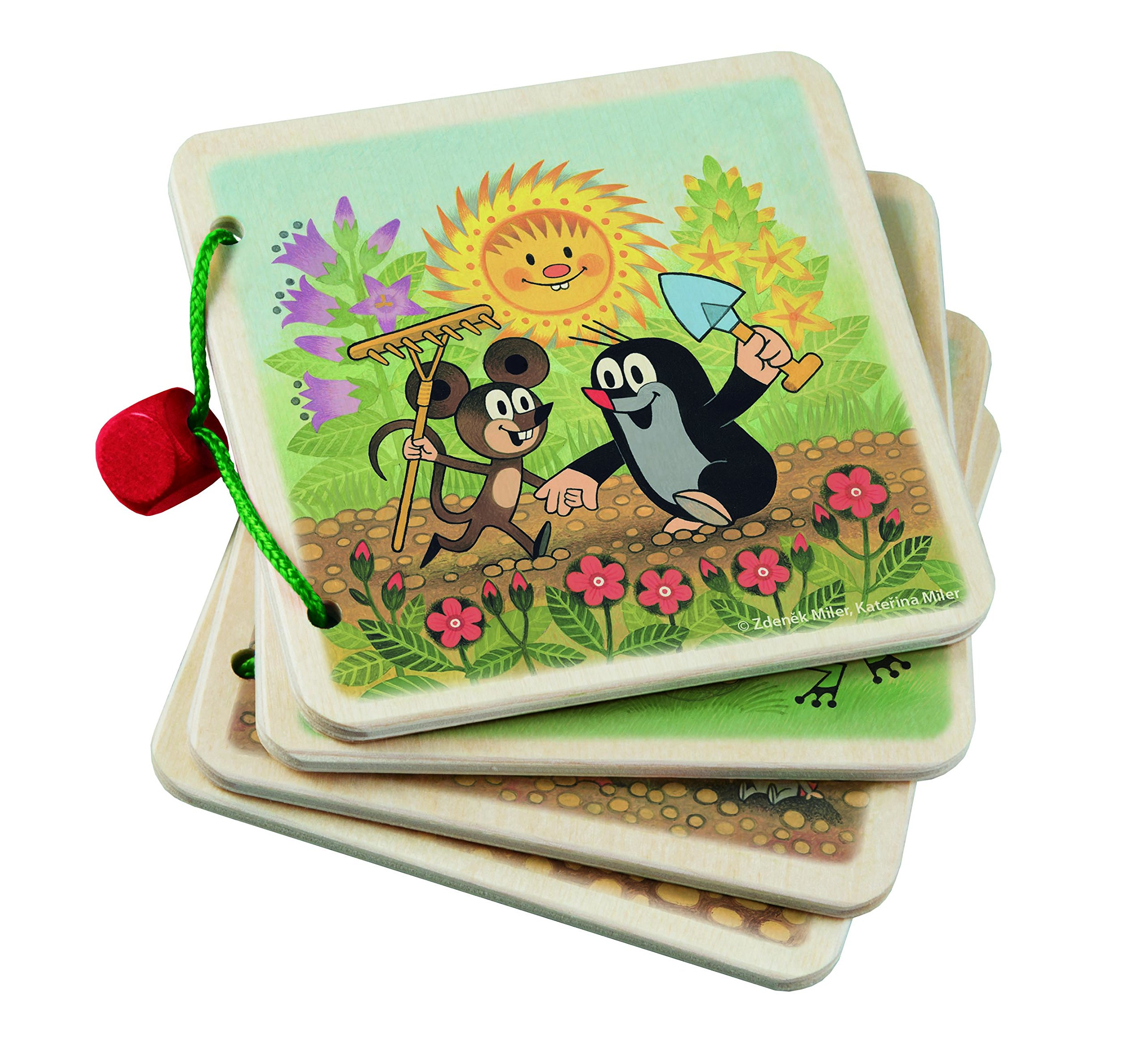 Krtek Little Mole Scrap Book in The Garden Wooden Pages Activity Book for Babies 1yr + Detoa 13899