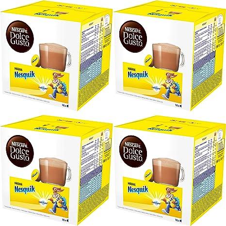 Nescafé Dolce Gusto Nesquik, Paquete de 4, 4 x 16 Cápsulas: Amazon ...