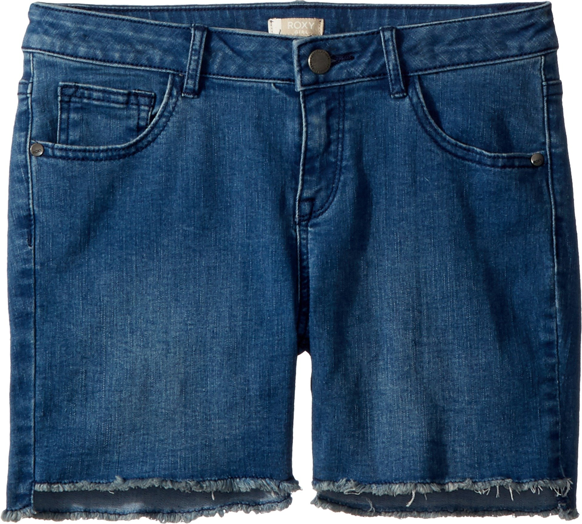 Roxy Big Girls' Light Hearted Denim Shorts, Retro Blue, 12