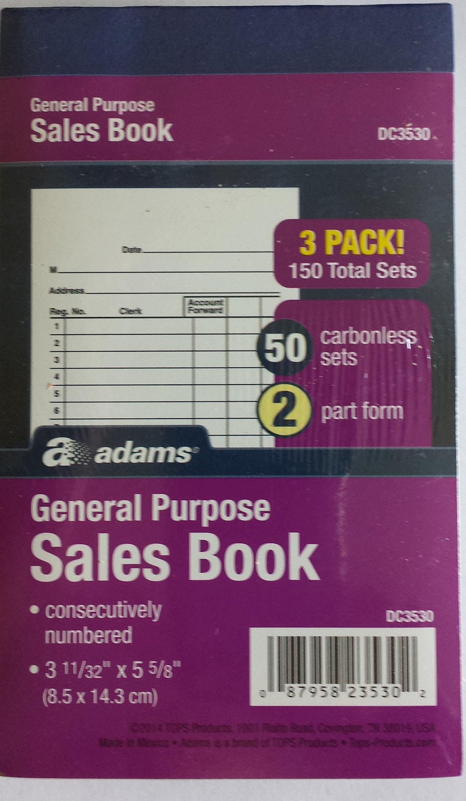 Adams General Purpose Sales Books, DC3530, Case of 18