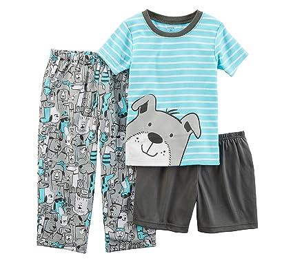 c66b44b838ea Amazon.com  Carter s Boys  2T-20 3-Pc. Dog Pajama Set  Clothing