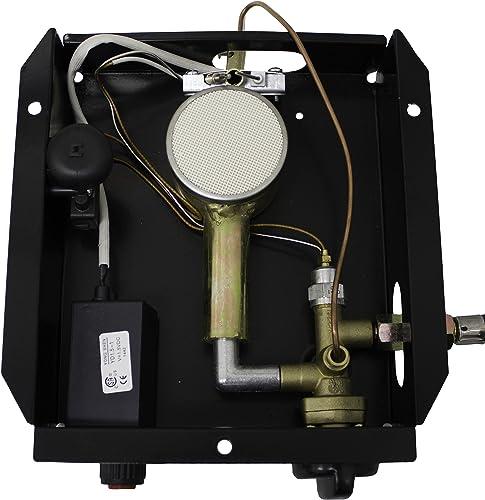 Hiland 3BOLT SGT-Burner 3 Bolt Hole Pattern Burner for Square Glass Tube Patio Heater w Regulateor, One Size, Grey