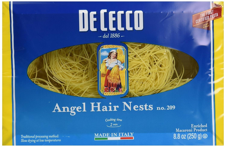 amazon com de cecco pasta angel hair nest capellini pasta