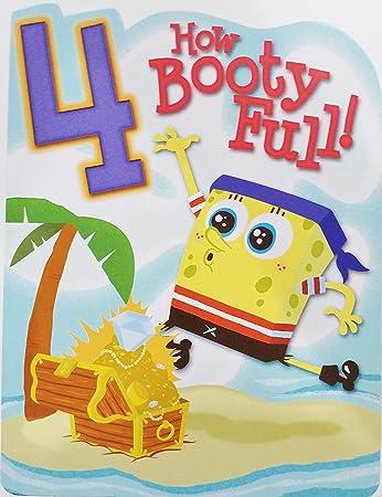 Amazon.com: Bob Esponja pirata Happy 4th Tarjeta de ...