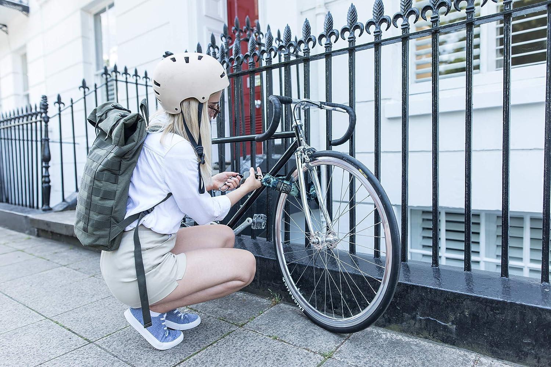 6 mm x 75 cm Hiplok Lite Indossabile Bicicletta Catena Lock-Nero//Ciano