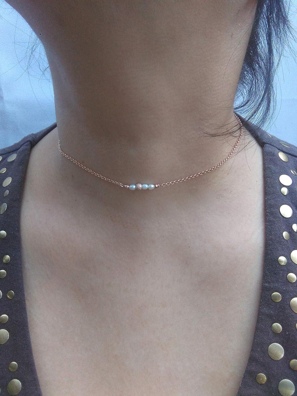 ca43b8f8cbba Gargantilla plata de ley 925 con perlas.