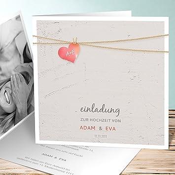 Hochzeitseinladung Selber Gestalten Liebesfaden 55 Karten