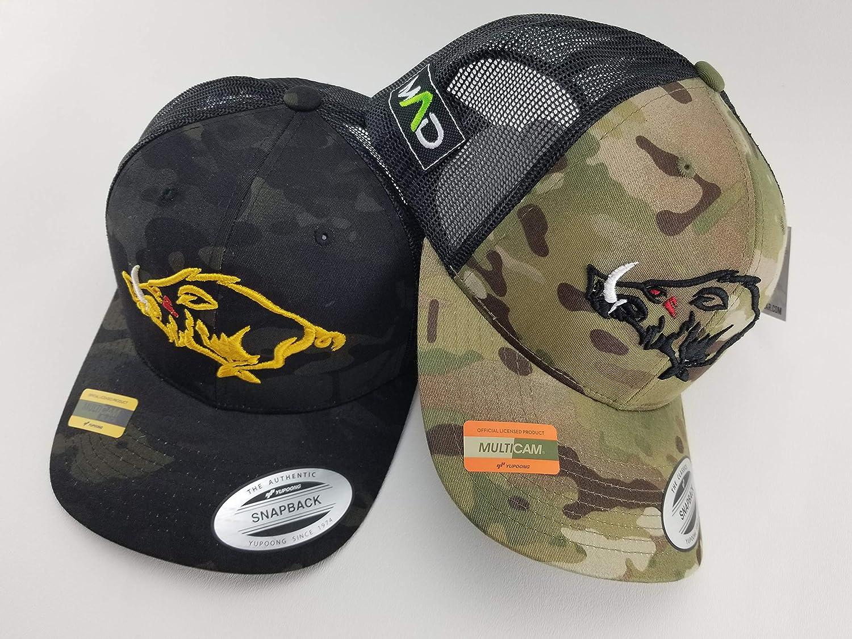 Multicam Hog Hat, hunting hogs, MAD Hog, hunting trucker hat, hunting hat, black multicam hat, camo hunting hat, camo cap, hunter gifts, hunter hat, hog life, snapback, trucker hat