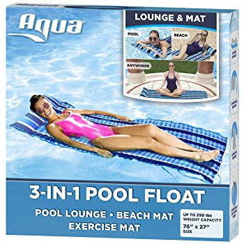 Aqua 3-In-1 Roll-Up Pool Float Lounger