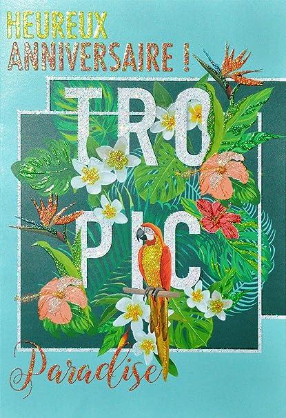 afie 69 - 4005 tarjeta feliz cumpleaños purpurina diseño ...