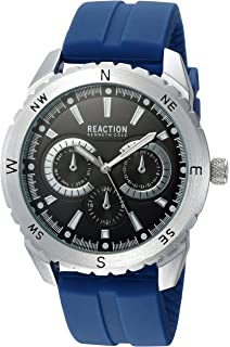1a9faa1bce8 Kenneth Cole REACTION Men s Analog-Quartz Metal Case Rubber Mesh Stainless  Steel Strap Casual