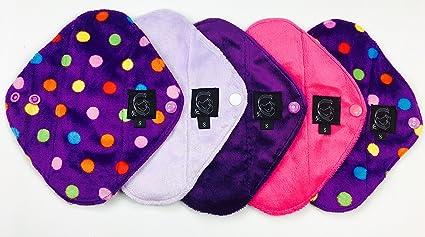 Panty Liner 5 paquetes, Plain o Patterned, gamuza de panty Liner – Compresa (