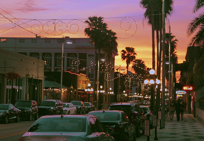 Amazon com: Ybor Purple Sunset in Ybor City, Tampa, Florida
