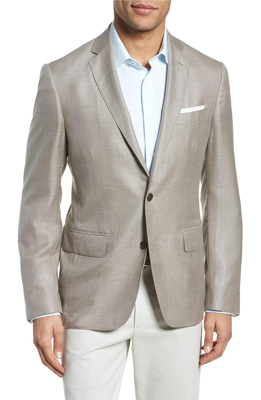 [モンテロッソ] メンズ ジャケットブルゾン Monte Rosso Trim Fit Cashmere & Silk Bla [並行輸入品] B07BF746CR 46 Regular