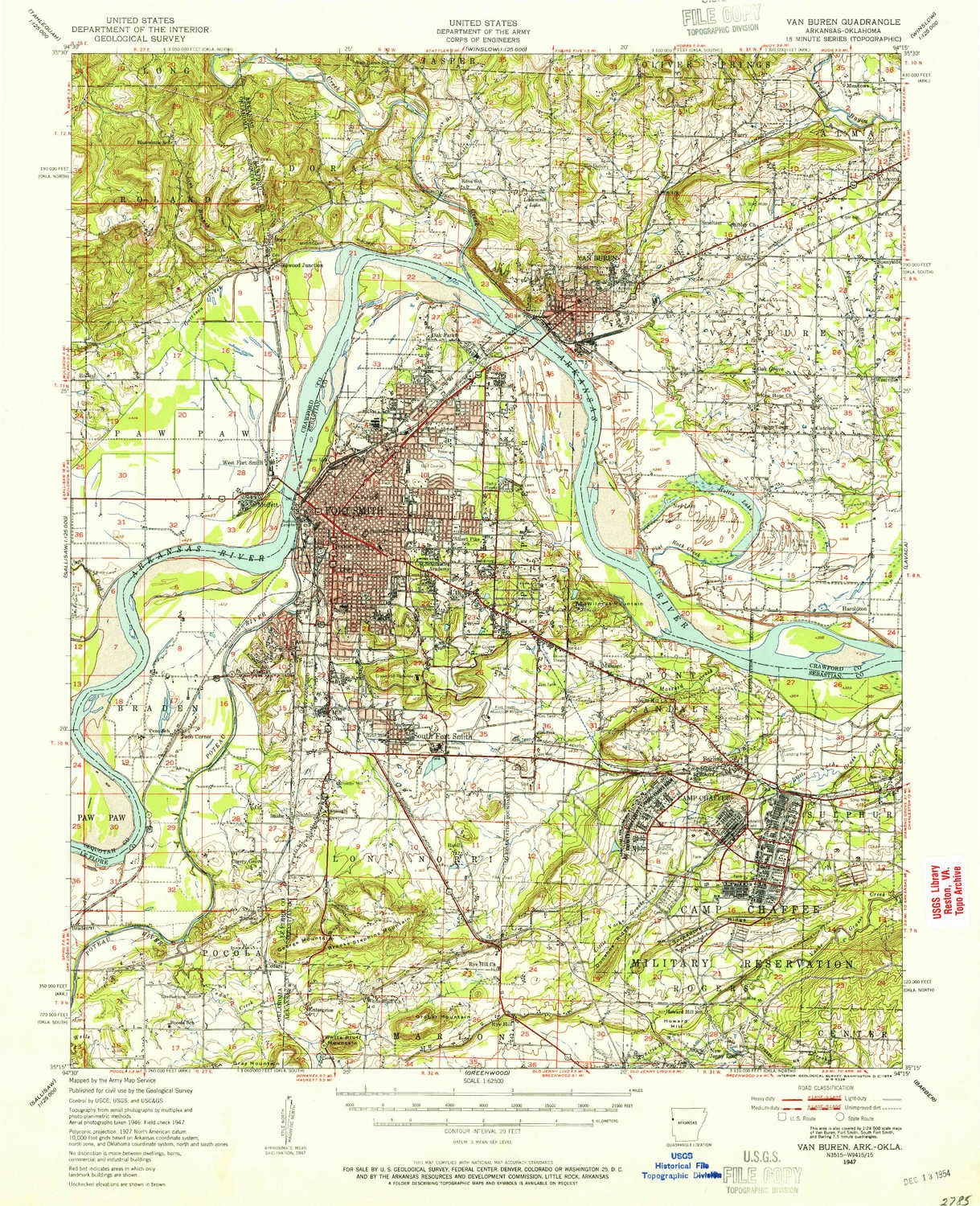 Amazon.com: YellowMaps Van Buren AR topo map, 1:62500 Scale, 15 X 15 ...