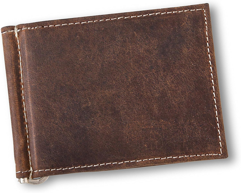 Deboss Personalized Black Borello Leather Money Clip