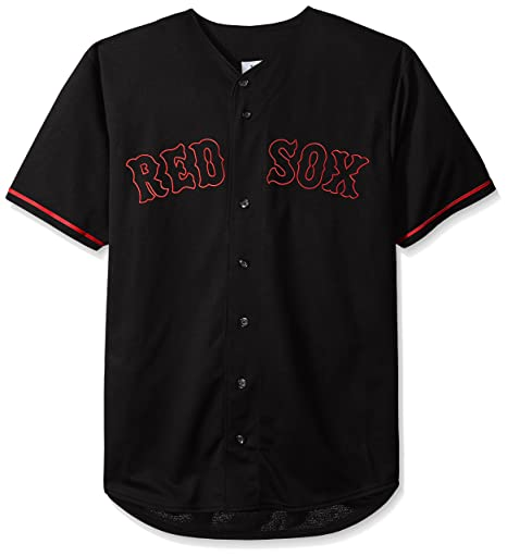 8e71bcb13 Amazon.com   MLB Boston Red Sox Men s Short Sleeved Texture Replica Jersey  with Pop Applique