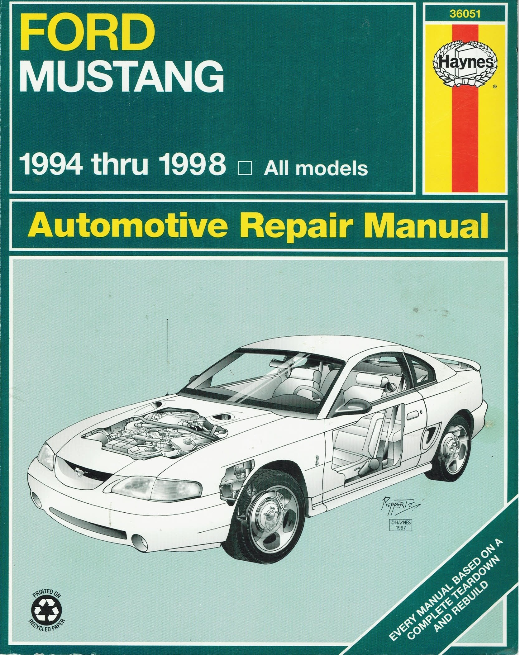Haynes Ford Mustang: 1994 Thru 1998 (Haynes Automotive Repair Manuals):  Haynes Editors: 9781563923241: Amazon.com: Books