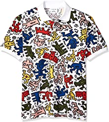 e68c474882d9 Lacoste Men s S S All Over Printed Mini Pique Polo Classic Fit