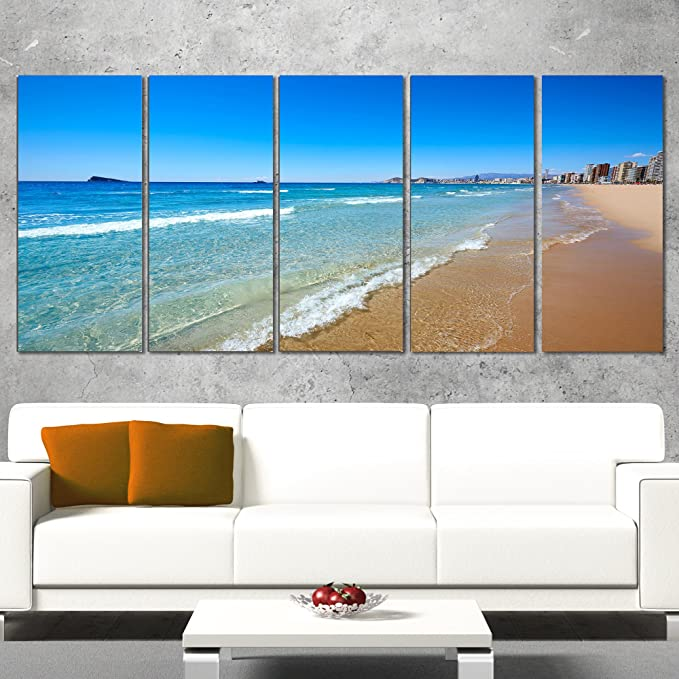 Amazon.com: Designart PT9922-401 Benidorm Poniente Beach ...