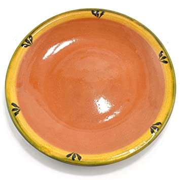 Mexican Clay Plate - 10in Trefoil Design  sc 1 st  Amazon.com & Amazon.com | Mexican Clay Plate - 10in Trefoil Design: Dinner Plates