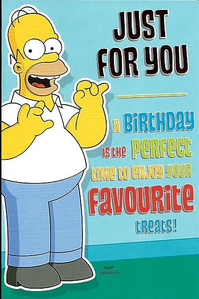 The Simpsons Juste Pour Vous Carte D Anniversaire Amazon Fr Fournitures De Bureau
