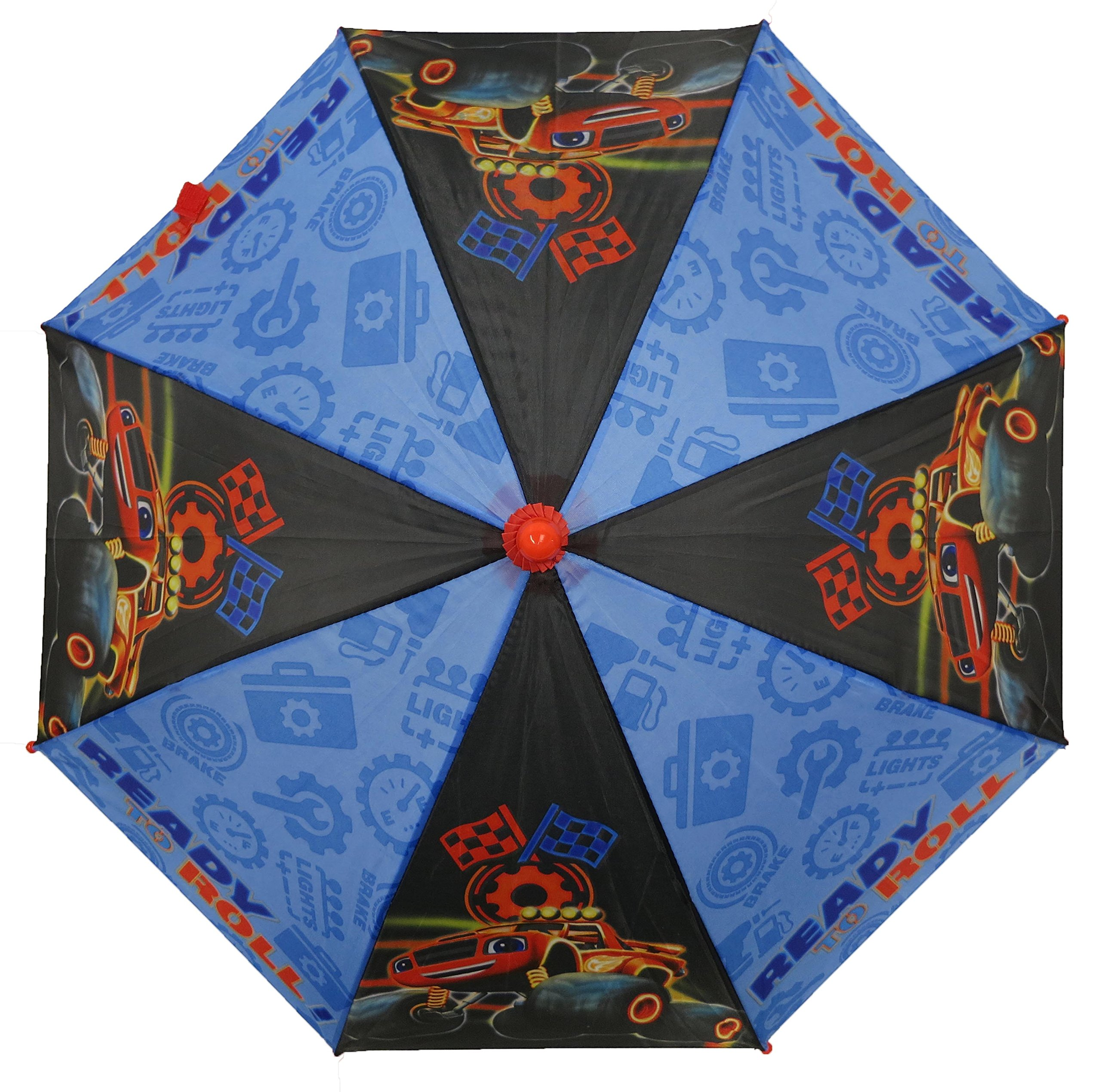 Nickelodeon Little Boys Blaze Character Rainwear Umbrella, Black/Blue, Age 3-7 by Nickelodeon (Image #3)