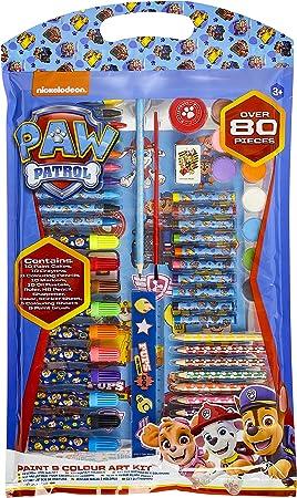 PAW PATROL Set Pinturas para Niños, Kit de Arte con Material Escolar, Incluye Lapices Colores, Ceras de Colores, Rotuladores y Acuarelas Niños, Regalos Creativos para Niños y Niñas 3+: Amazon.es: Juguetes y