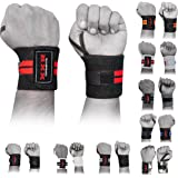 XXR Weight Lifting Wrist Wraps Power Lifter Wraps Supports Gym Workout Fist Wrist Straps Exercise Fitness Strengthen Training Dead Lift Bodybuilding