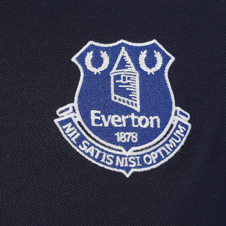 Everton Football Club Official Soccer Gift Mens Crest Polo Shirt Navy Blue